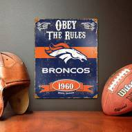 Denver Broncos Vintage Metal Sign