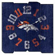 Denver Broncos Vintage Square Clock