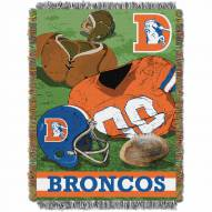 Denver Broncos Vintage Throw Blanket
