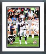 Denver Broncos Von Miller 2014 Action Framed Photo
