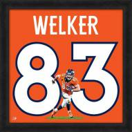 Denver Broncos Wes Welker Uniframe Framed Jersey Photo
