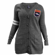 Denver Broncos Women's Gray Varsity Cardigan