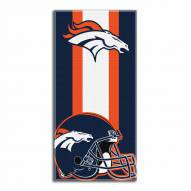 Denver Broncos Zone Read Beach Towel