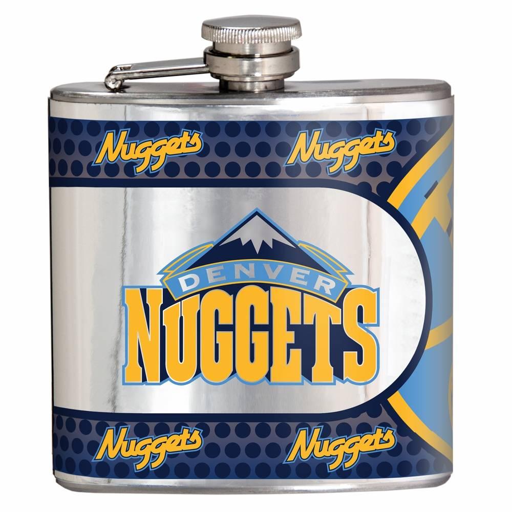 Denver To Hawaii: Denver Nuggets Hi-Def Stainless Steel Flask