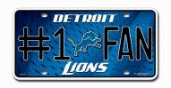 Detroit Lions #1 Fan License Plate