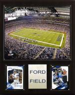 "Detroit Lions 12"" x 15"" Stadium Plaque"