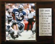 "Detroit Lions Barry Sanders 12"" x 15"" Career Stat Plaque"