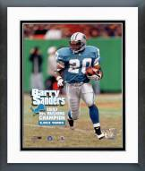 Detroit Lions Barry Sanders 1997 NFL Rushing Champion Framed Photo