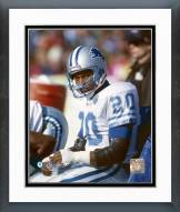 Detroit Lions Barry Sanders on bench Framed Photo