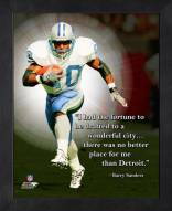 Detroit Lions Barry Sanders Framed Pro Quote