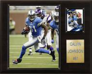 "Detroit Lions Calvin Johnson 12 x 15"" Player Plaque"