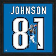 Detroit Lions Calvin Johnson Uniframe Framed Jersey Photo