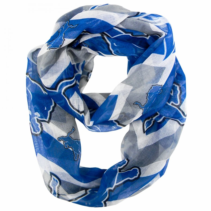 Detroit Lions Chevron Sheer Infinity Scarf