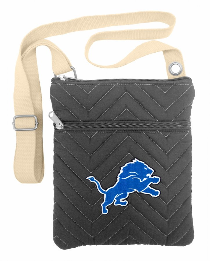 Detroit Lions Chevron Stitch Crossbody Bag