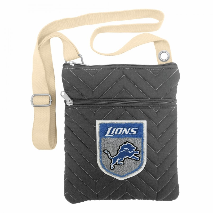Detroit Lions Crest Chevron Crossbody Bag