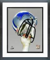 Detroit Lions Detroit Lions Helmet Spotlight Framed Photo