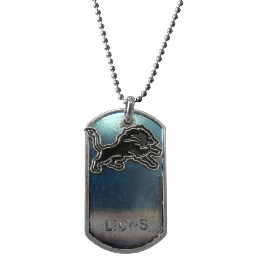 Detroit Lions Dog Tag Charm Necklace
