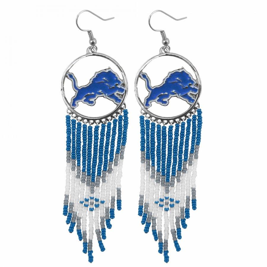 Detroit Lions Dreamcatcher Earrings