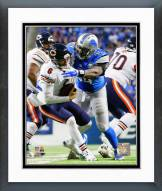 Detroit Lions Ezekiel Ansah 2014 Action Framed Photo