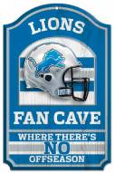 Detroit Lions Fan Cave Wood Sign