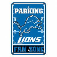 Detroit Lions Fan Zone Parking Sign