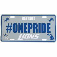 Detroit Lions Hashtag License Plate