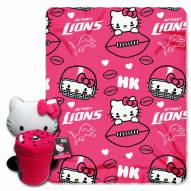 Detroit Lions Hello Kitty Blanket & Pillow
