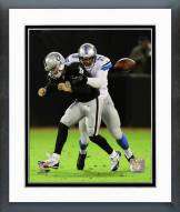 Detroit Lions Larry Webster 2014 Action Framed Photo