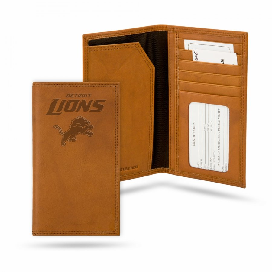 Detroit Lions Leather Roper Wallet