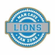 Detroit Lions Man Cave Fan Zone Wood Sign