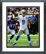Detroit Lions Matthew Stafford 2015 Action Framed Photo