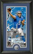 Detroit Lions Matthew Stafford Minted Coin Panoramic Photo Mint