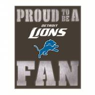 Detroit Lions Metal LED Wall Sign
