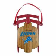 Detroit Lions Metal Sled Tree Ornament