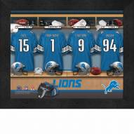 Detroit Lions NFL Personalized Locker Room 11 x 14 Framed Photograph