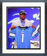 Detroit Lions Nick Fairley 2011 NFL Draft #13 Pick Framed Photo