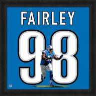 Detroit Lions Nick Fairley Uniframe Framed Jersey Photo
