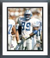 Detroit Lions Pepper Johnson Action Framed Photo
