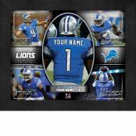 Detroit Lions Personalized Framed Action Collage
