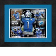Detroit Lions Personalized 13 x 16 Framed Action Collage