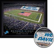 Detroit Lions Personalized Framed Stadium Print