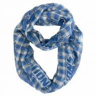 Detroit Lions Plaid Sheer Infinity Scarf