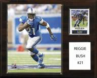"Detroit Lions Reggie Bush 12"" x 15"" Player Plaque"