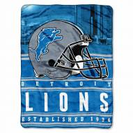 Detroit Lions Silk Touch Stacked Blanket