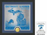 Detroit Lions State Bronze Coin Photo Mint