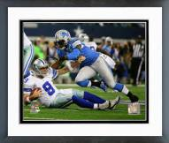 Detroit Lions Tahir Whitehead 2014 Playoff Action Framed Photo