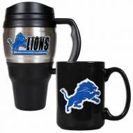 Detroit Lions Travel Mug & Coffee Mug Set