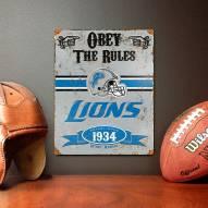 Detroit Lions Vintage Metal Sign