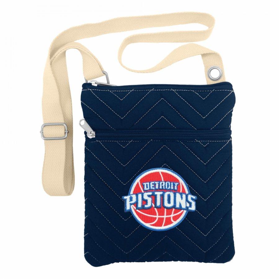 Detroit Pistons Chevron Stitch Crossbody Bag
