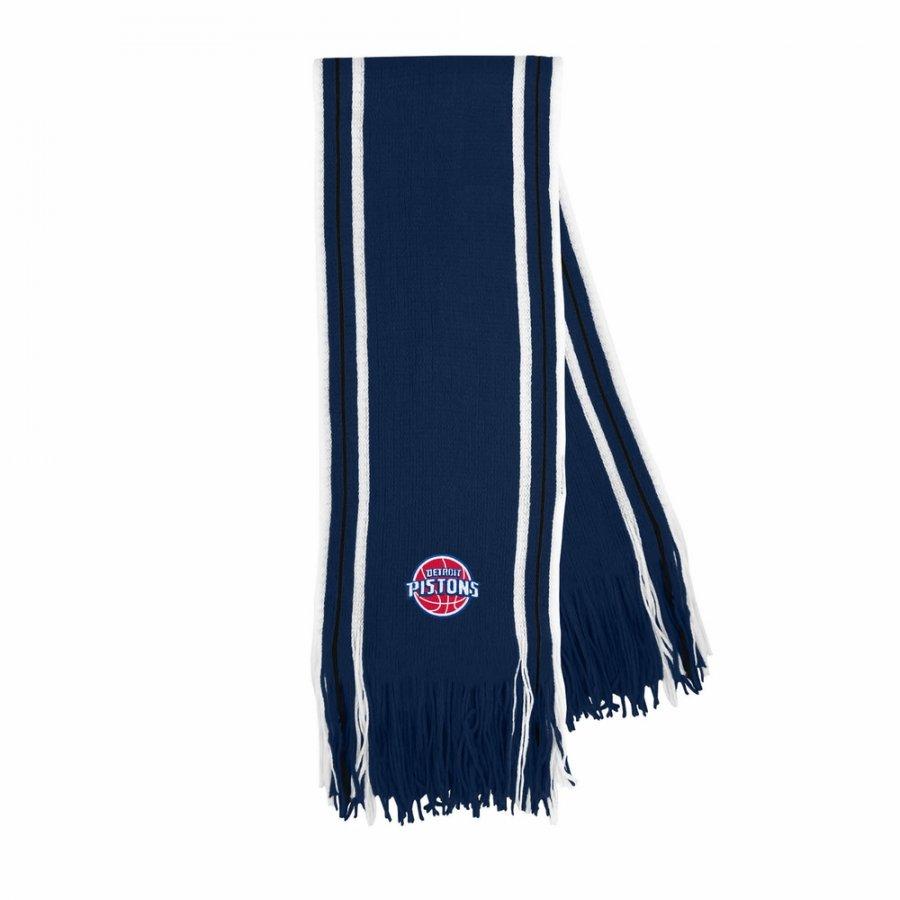 Detroit Pistons Stripe Fringe Scarf
